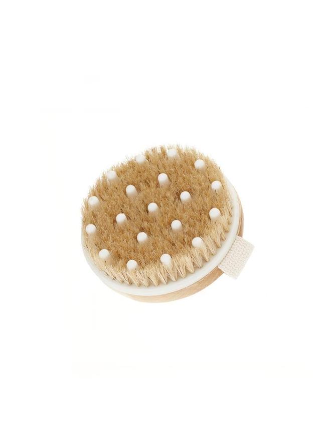 Bamboo Body Brush for Dry Brushing, Exfoliating & Stimulating (With Nodules)