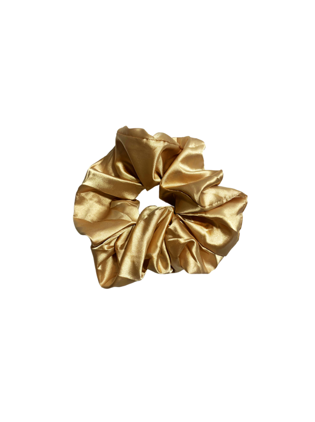 Gold Oversized Satin Scrunchie