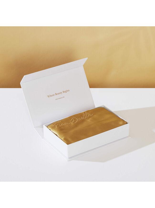 Silk Pillowcase in Gold